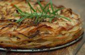 Kartoffel, Rosmarin und Zwiebeln Schicht Backen