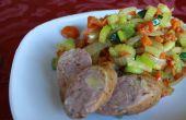 Gemüse-Hash in Mangalitza Speck Schmalz gekocht