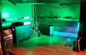 LED Unterschrank / unter Schreibtisch Beleuchtung mit Dimmer und Wireless Remote