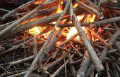 Aufbau Lagerfeuer der richtige Weg (ohne Anzündhilfen oder gefährlicher Brandbeschleuniger)