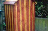 Strand-Hütte-Kompost aus recycelten Paletten