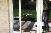 Schiebetüren Glastür Installation Hund