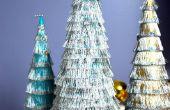 Fringe-Weihnachtsbäume sind lustig und einfach zu machen