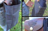 Zelda inspiriert, faltbare Leder und Canvas Tasche