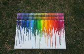 Crayon schmelzen Kunst