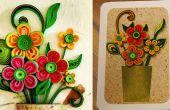 Wie erstelle ich eine Grußkarte 3D-Blume | Quilling Kunstwerken
