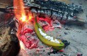 Lagerfeuer geröstet gefüllte Banane