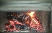 Sicher Feuer Weg, um ein Feuer zu beginnen