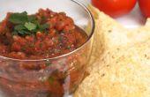 Feuer gerösteten Tomaten-Salsa