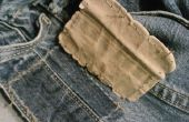 Blaue Jeans zu färben