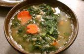 Grünkohl und Weiße Bohnensuppe