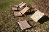 DIY-Sonnenliegen aus alten Gans Jagd Stühle