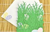 Osterkarte Eiern versteckt