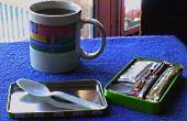 Tragbare Kaffeepause