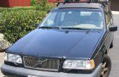 Befestigen Sie lose Scheinwerfer Reflektor auf einen Volvo 850