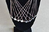 Wie erstelle ich eine lange mehrsträngigen Silber Kette Halskette mit Perlen für Büro-Dame