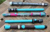 Make your own Sonic Schraubenzieher und Lichtschwert Stifte! :)  Zurück zu Schule Geekery Sci-Fi!