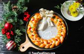 Mamas Brot Kranz zu Weihnachten