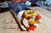 Pfanne gebraten Huhn Burrito