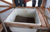 Blumenerde Bench - Gewächshaus Boden sinken Blumenerde Bank Idee