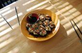 Teriyaki Huhn brauner Reis Sushi