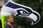 Nähen Sie sich ein Seahawk (oder andere Logo-Maskottchen)