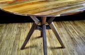 Wie man eine Runde Tischplatte mit einer Kreissäge geschnitten