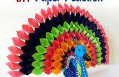DIY-Paper Craft-Projekt: Wie erstelle ich bunte Papier Peacock für Inneneinrichtungen