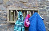 Palettenholz und AST Mantel Haken