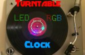 Plattenspieler-LED RGB-Uhr