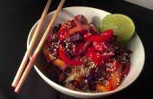 Gefrierschrank, Tisch in 10 Minuten: Thai Shrimp Stir-Fry mit Kokosreis