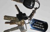 E-Mail-Nutzung und eine Hundemarke bekommen Ihre verlorene Schlüssel (und andere Sachen) zurück.