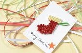 Wie erstelle ich eine lustige Weihnachtskarte mit Paper Quilling Strumpf