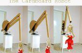Riesigen Computer-Controlled Robotic Arm gemacht der alten Kartons