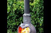 Outdoor-Kamin (Chimenea) aus Ferrozement