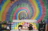 Erstellen von Tye Dye in Farbe auf die Wand