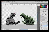 Laser-Cut Godzilla Vs MechaGodzilla Schablone