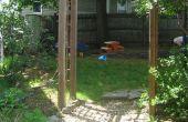 Selbst gebaute Garten Arbor