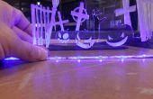 Laser Cut Edge Lit Halloween Display - habe ich es bei laufenTechshop!