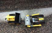 Machen ein Bulldozer und Steam Roller von Legos