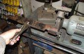 Rasenmäher Messer schärfen Werkzeug