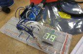 Arduino powered 7 Segment LED-Anzeige mit Shift registriert - ich habe es bei laufenTechshop