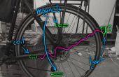 Magnetische Induktion Sicherheit Fahrradbeleuchtung. Fast unsichtbare Design, billig, wasserdicht und Akku kostenlos!