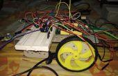 Hindernis, die Vermeidung von Roboter mit IR-Modul verbunden mit Mediatek LinkIt ein Brett