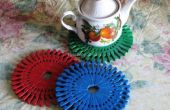 Teekanne Matte DIY Projekte mit Heringen und Kappen