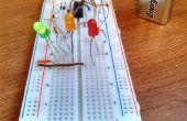 Aufbau einer einfachen 9V LED Ampel