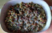 Derby-Salbei-Makkaroni und Käse mit Schinken