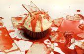 Blutige Glasscherben Candy Cupcakes für Halloween