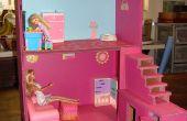 Puppenhaus von Kisten und Kartons