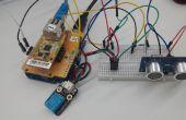 [Arduino Projekt] #Remote Überwachung der Ultraschall Sensorwert mit IoShield-A & Cloud-Server